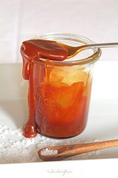 seidenfeins Blog vom schönen Landleben: Rezept salzige Karamellsoße * sugar sweet and salty caramel sauce - recipe