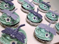 Dragonfly Party by belisacupcakes, via Flickr