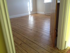 Finished floorboards using Becker acroma waterborne parquet varnish. Flooring, New Homes, Oak Doors, Solid Oak Doors, Hardwood Floors, Dinning Room, Living Room Plan, Floorboards, Room