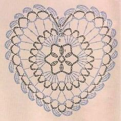 A Heart Doily, chart