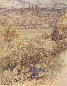 Wind in the Willows Arthur Rackham Rare Vintage REPRODUCTION Print #11 of 12, Sizes A5,A4,5R High Quality Glossy Paper (Frame,wall hanging) by RareVintagePrints on Etsy