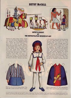 Betsy's Sunday at the Metropolitan Museum of Art....March 1971. I spent hours cutting out paper dolls and playing with them!