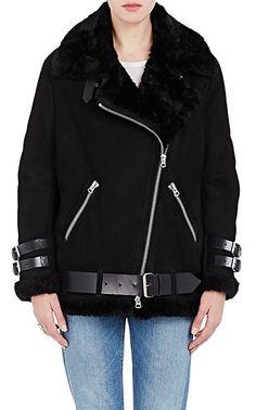 Acne Studios Suede Velocite Oversized Moto Jacket - Short - Barneys.com