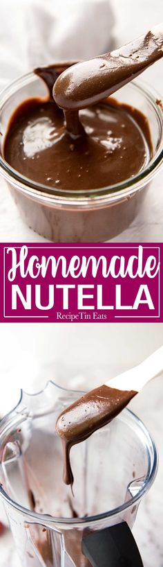 Hazelnuts, cocoa powder, confectionary/icing sugar, oil, vanilla extract and your blender is all you need to make Homemade Nutella. It's unbelievably good!