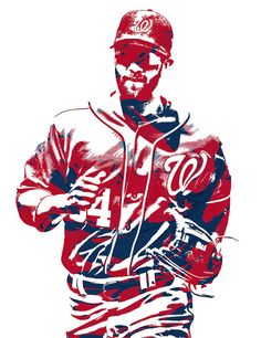 Bryce Harper Washington Nationals Pixel Art 12 Art Print by Joe Hamilton. All prints are professionally printed, packaged, and shipped within 3 - 4 business days. Baseball Painting, Baseball Art, Joe Hamilton, Rockies Baseball, Bryce Harper, Thing 1, Mlb Players, Washington Nationals, Cleveland Indians