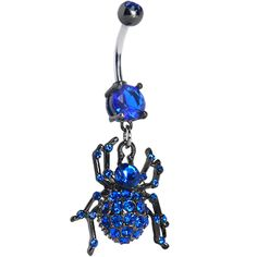 Product Details Bedazzle your belly with this sweet spider navel ring. Pink gem belly ring with black dangling spider. Belly Button Piercing, Belly Button Rings, Body Piercing, Blue Gem, Blue Sapphire, Stomach Piercings, Dangle Belly Rings, Kawaii Jewelry, Deb Shops