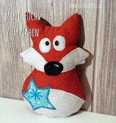 Mini-Fuchs zum selber Nähen; Ergänzung zur Mini-Rentier-Anleitung; Weihnachtsdeko