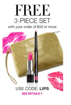 National Lipstick Day! FREE with your $50 order. Code: LIPS
