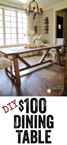 DIY Dining Table - Free plans to build this Restoration Hardware table... LOVE IT.