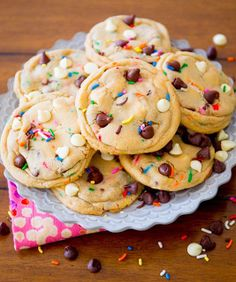 Cake Batter Chocolate Chip Cookie Recipe