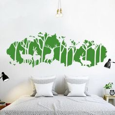 Each Deer In The Forest  Wall Decals is made of high quality, self-adhesive and waterproof vinyl. Our vinyl is rated to last 5 years outdoors and virtually fore