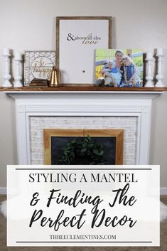 Styling a mantel and finding the perfect decor. #mantel #fireplace #homedecor #farmhouse