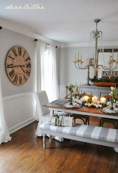 Love the oversized clock