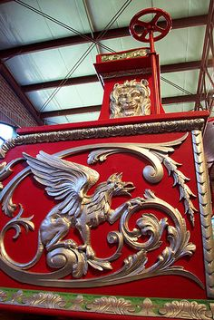 Circus Wagon Detail by Comtesse DeSpair, via Flickr