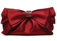 Judith Leiber presents the Elegant Satin Clutch Red Purses, Purses And Bags, Red Fashion, Fashion Bags, Romancing The Stone, Judith Leiber, Red Satin, Red Wedding, Shades Of Red