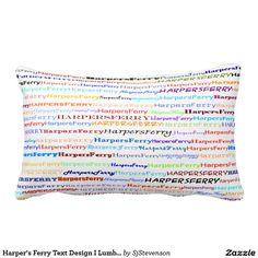 Harper's Ferry Text Design II Lumbar Pillow