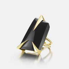 """Black Spinel """"Rettangolare"""" Ring"""