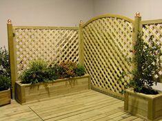 Grigliati per fioriere in legno per arredo giardino - Edilgarden ...