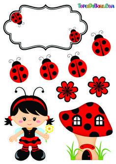 Hello Kitty Invitation Card, Aristocats Party, Ladybug Rocks, Ladybugs, Christmas Handprint Crafts, Kids Planner, Baby Shower Labels, Ladybug Party, Bullet Journal Writing