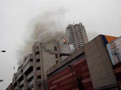 Amago de incendio en el centro comercial Real Plaza del Cercado de Lima