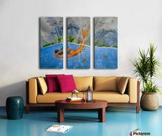 Casted in Copper - Carola James - Canvas Artwork Living Room Decor, Bedroom Decor, Bedroom Kids, Colourful Living Room, Art For Sale Online, Fancy Houses, Canvas Artwork, Blue Artwork, Home Office Decor