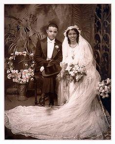 Wedding couple, Harlem, New York (1937), photographed by James van der Zee.