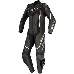 Moto suit Whole Woman in Professional leather Alpinestars Stella MONTEGI 2017 V2 Black White Red
