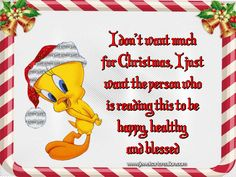 Funny Christmas Images, Merry Christmas Quotes, Christmas Blessings, Christmas Christmas, Xmas, Funny Christmas Wallpaper, Tweety Bird Quotes, Make Your Own Card, Funny Character