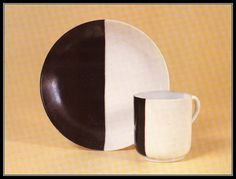 Porcelain plate and cup by Nicolai Suetin, 1920s