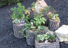 Fairy Garden from Mini Fairy Garden, Fairy Garden Houses, Gnome Garden, Fairy Gardening, Little Gardens, Small Gardens, Fairy Village, Fairy Garden Accessories, Miniature Fairy Gardens