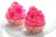 Pink Grapefruit and Watermelon Scented Cupcake Soap - Mothers Day Gift