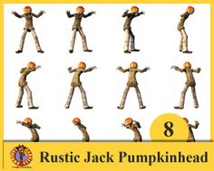 Rustic Jack PumpkinHead Pack 8 .png with transparency by Blurtsmum, £5.35