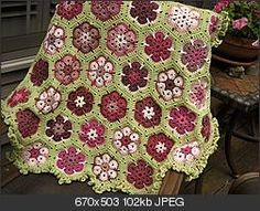 African flower afghan - gorgeous!