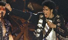 Michael on stage during the Bad Tour in 1987.