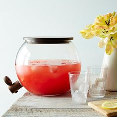 Love this Handblown Glass Drink Dispenser ||  Sangria Time!  || http://amuseewine.com/?s=sangria