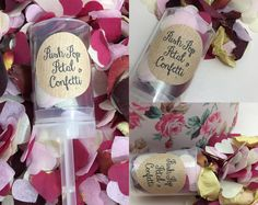 Push Pop Confetti rose petals cornflower labender wedding decorations Handmade Eco Friendly natural