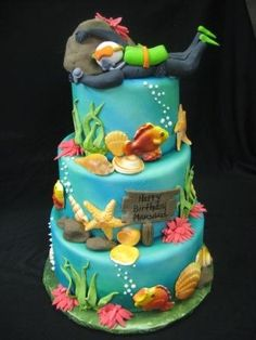 Scuba Diving Birthday Cake | 3 Sisters Chocolate & Bakery