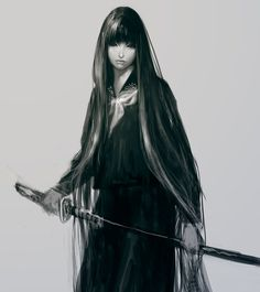 26 Saliently Impressive Swordsman Artwork Illustrations Uniform_Japanese_sword_by_masateru Female Samurai, Samurai Art, Character Design Cartoon, Character Art, Fantasy Characters, Female Characters, Katana Girl, Arte Ninja, Ninja Art