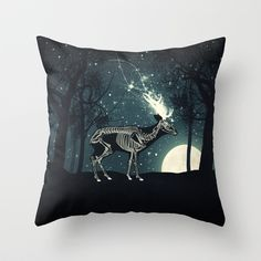 The Forest of the Lost Souls Throw Pillow by Paula Belle Flores - $20.00