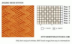 Zigzag Seed | Knit - Purl stitches
