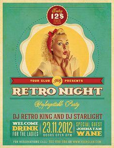 Retro Party Flyer Template   Flickr: Intercambio de fotos