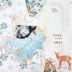 First Christmas - Bo Bunny Woodland Winter