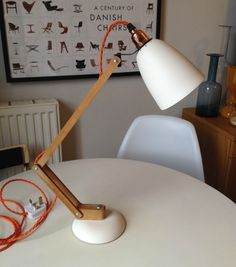 1960s Vintage Desk Lamp Wooden Arm Maclamp By Terence Conran Eames Stilnovo Ebay