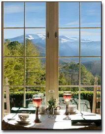 Buckhorn Inn, Gatlinburg, Tennessee ~ elegant dining at this beautiful B&B