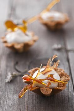 Maple Mousse in Crispy Almond Baskets - repin by #Edendiam