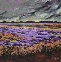 "http://chalang.wordpress.com .""Provence""mix media 60 x 60cm by Chantal Lang"