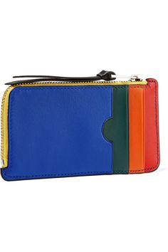 Loewe | Color-block leather cardholder | NET-A-PORTER.COM