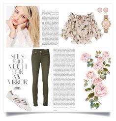 """flower"" by izkiz21 ❤ liked on Polyvore featuring rag & bone/JEAN, Silvana, adidas Originals, Rika, Oris, Monica Vinader and Michael Kors"