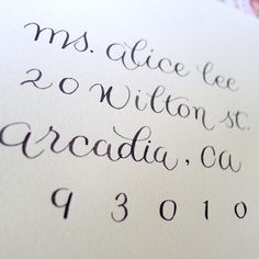 simple calligraphy/clean - maybe for wedding Thank yous?!