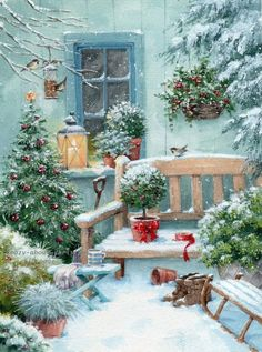 Leading Illustration & Publishing Agency based in London, New York & Marbella. Merry Christmas To You, Christmas Snowman, Christmas And New Year, All Things Christmas, Vintage Christmas, Christmas Crafts, Xmas, Christmas Paintings On Canvas, Christmas Artwork